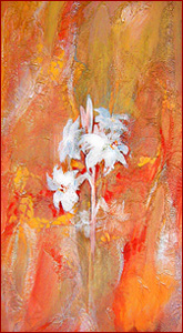 SHOSHAN - (Hebrew) lily (acrylic painting by Erika Steinbeck)